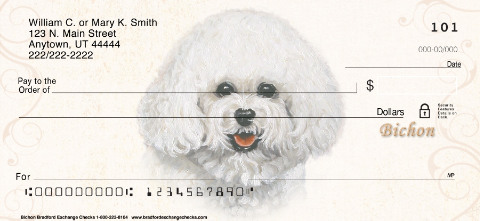 Bichon Frise Portrait Painting Checks