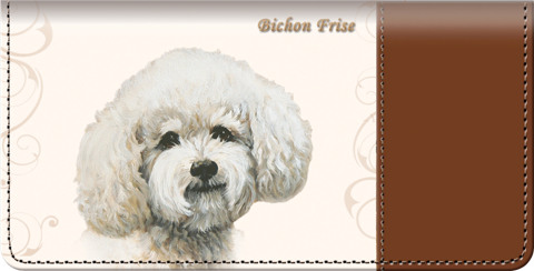 Bichon Checkbook Cover