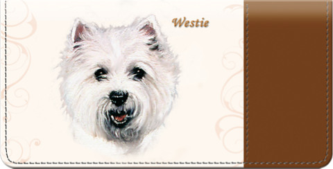 Westie Checkbook Cover