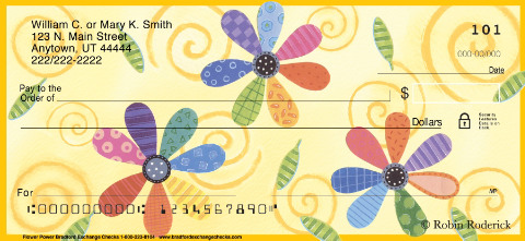 Flower Power Personal Checks