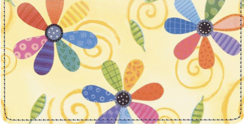 Flower Power Checkbook Cover