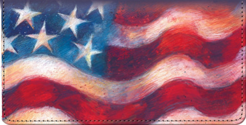 Waves of Freedom Checkbook Cover