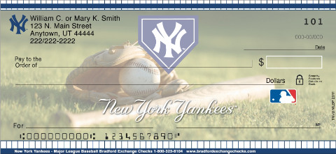 New York Yankees Logo Checks - 4 Images