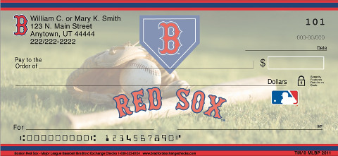 Boston Red Sox Logo Checks