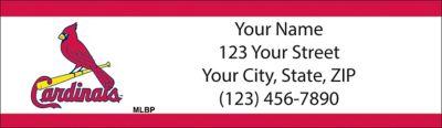 St Louis Cardinals(TM) MLB(R) Return Address Label