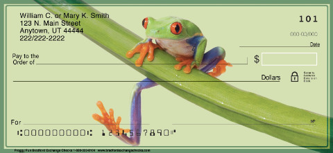 Froggy Fun Personal Check Designs