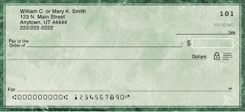 Wall Street Personal Check Designs