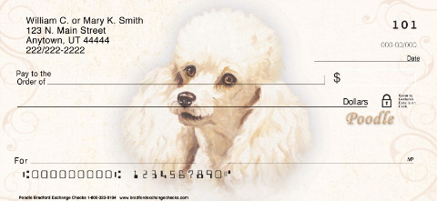 Poodle Portrait Personal Checks