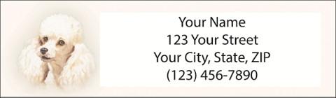 Poodle Return Address Label