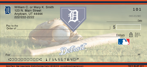 Detroit Tigers(TM) MLB(R) Personal Checks