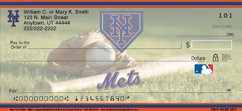 New York Mets(TM) MLB(R) Personal Checks