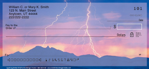 """ Lightning"" Personal Check Designs"