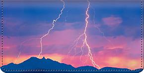 Lightning Strikes Checkbook Cover