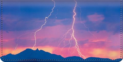 Lightning Strikes Checkbook Cover