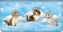 Purr-fect Angels Checkbook Cover