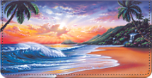 Hawaiian Sunsets Checkbook Cover