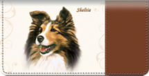 Sheltie Checkbook Cover