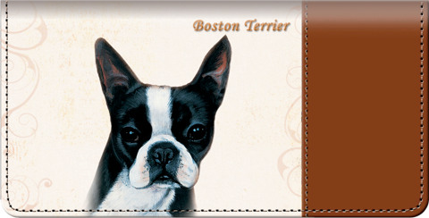 Boston Terrier Checkbook Cover