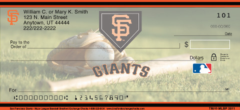 San Francisco Giants(TM) MLB(R) Personal Checks 1800189001