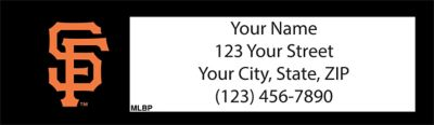 San Francisco Giants(TM) MLB(R) Return Address Label