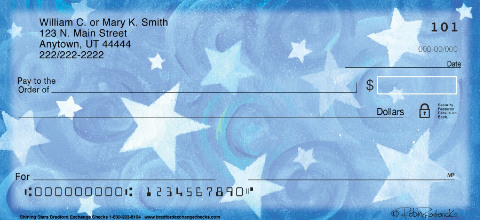 Shining Stars Personal Check Designs