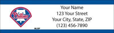 Philadelphia Phillies(TM) MLB(R) Return Address Label