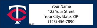 Minnesota Twins(TM) MLB(R) Return Address Label