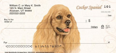 Cocker Spaniel Personal Checks
