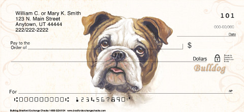 Linda Picken Bulldog Portrait Checks
