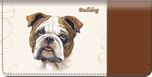 Bulldog Checkbook Cover