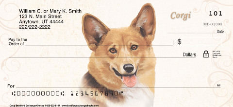 Welsh Corgi Personal Check Designs