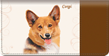 Corgi Checkbook Cover