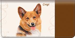 Corgi Checkbook Cover