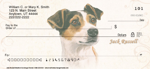 Jack Russell Terrier Art Checks