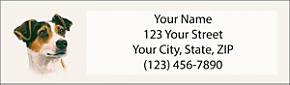 Jack Russell Return Address Label
