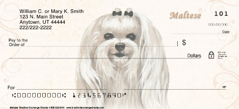 Maltese Personal Check Designs