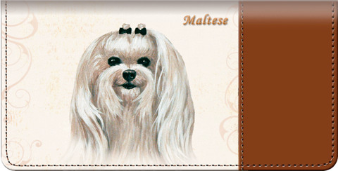 Maltese Checkbook Cover