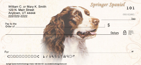 Springer Spaniel Personal Checks