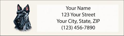 Scottie Return Address Label