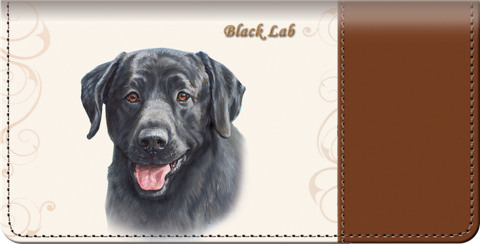 Black Labrador Checkbook Cover