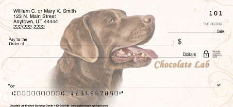 Chocolate Lab Personal Checks