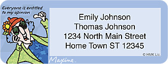 Maxine Return Address Label