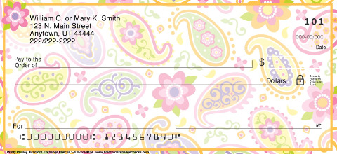 Pretty Paisley Personal Checks