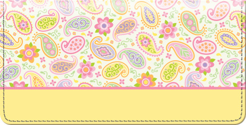 Pretty Paisley Checkbook Cover