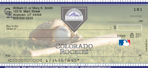 Colorado Rockies - Personal Checks