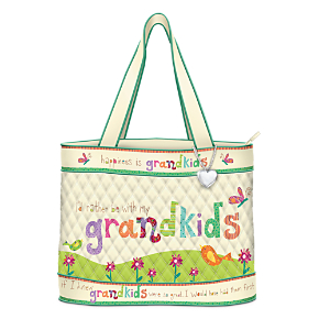 Grandkids Rule Artistic Tote Bag With FREE Cosmetic Case