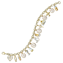 The Ultimate Celebration of Faith Crystal Charm Bracelet