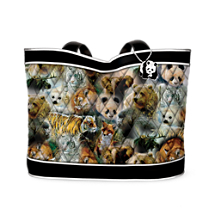 Endangered Wildlife Tote With FREE Matching Cosmetic Cases