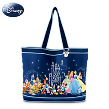Disney Characters Tote Bag With FREE Cosmetic Cases
