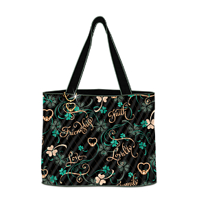 Irish Charm Quilted Tote Bag With FREE Cosmetic Case